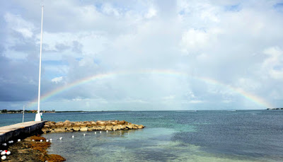 Rainbow over the sea