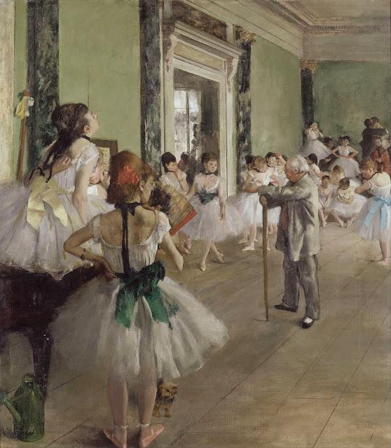 Эдгар Дега - Балетная студия (с тростью балетмейстер Жюль Перро) (1874)