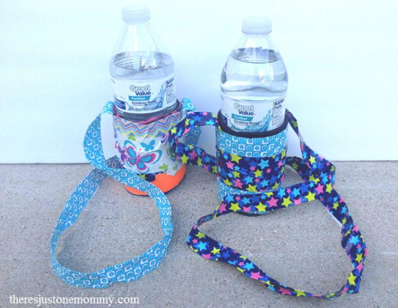 duct tape water bottle holder craft  - summer camp craft for kids