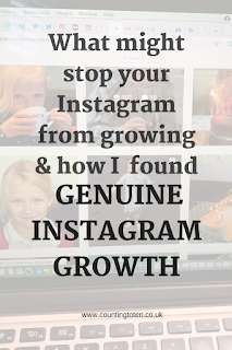 Text in an image box saying: What might stop your Instagram from growing and how I found genuine Instagram Growth