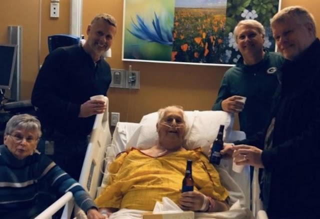 Com doença terminal, homem se despede tomando uma última cerveja com os filhos