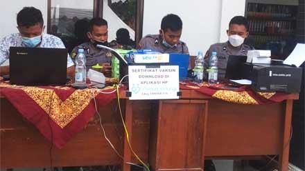 Vaksin Candi II Polres Purworejo Digelar di Desa Suren