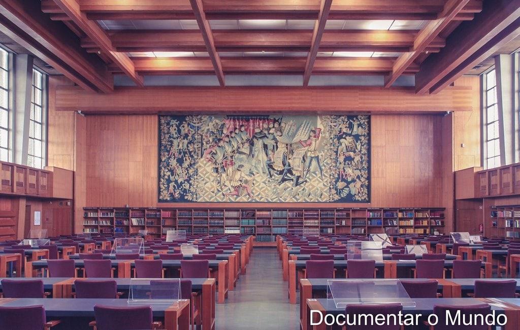 Sala de leitura; Biblioteca Nacional de Portugal