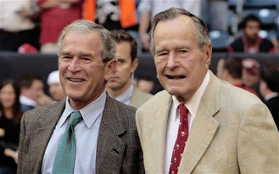 George H W Bush and George W Bush