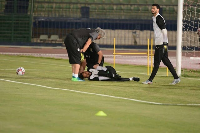 استبعاد محمود جنش حارس المنتخب المصرى للاصابة فى التدريب قطع وتر «أكيليس»