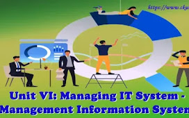 Unit VI: Managing IT System - Management Information System