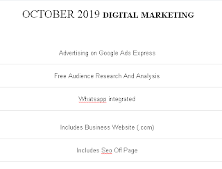 DIGITAL MARKETING - OCTOBER 2019