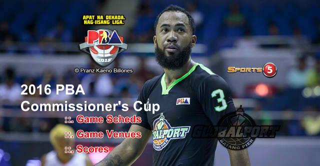 List of GlobalPort Batang Pier 11 Games Elimination Round 2016 PBA Commissioner's Cup