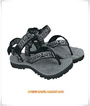 Sandal Hiking Pria Warna Abu Kombinasi