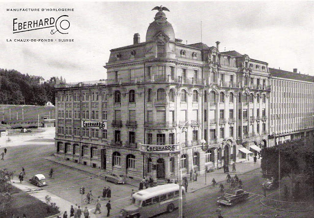 The historic building of Eberhard & Co. in La Chaux-de-Fonds