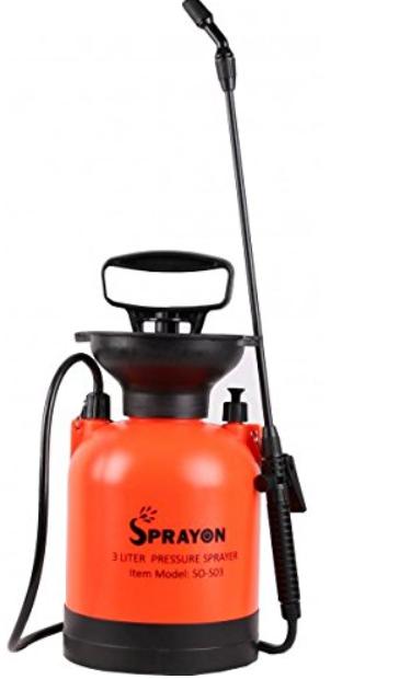 Sprayon Garden Pressure Sprayer (3 Liter) -Water Sprayer for Garden- Features Leak Proof, Lightweight, Unbreakable Body
