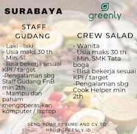 Info Lowongan Kerja di Greenly Surabaya Februari 2021