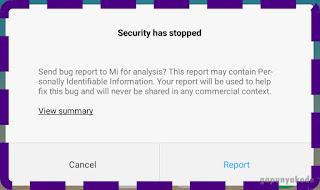 Cara Mengatasi Aplikasi Keamanan (Security) Xiaomi Redmi Berhenti