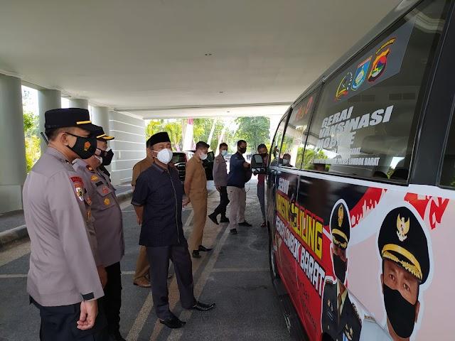 Mobil Gerai Serbuan Vaksinasi, Cara Lombok Barat Jangkau Vaksinasi di Pelosok Daerah.