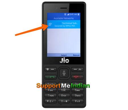 all wifi networksin jio phone