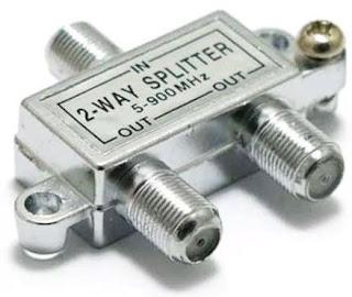 Cara Memasang 1 Antena Untuk 2 TV dengan splitter
