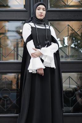 Baju lebaran tema Hitam Putih Modern dan manis Trend Baju Lebaran Menurut Jenahara