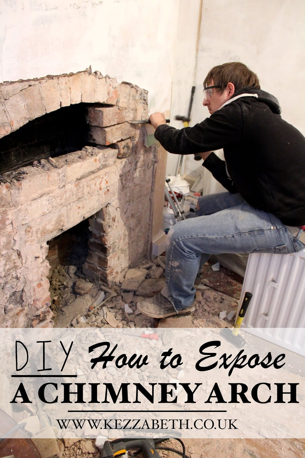 DIY how to expose a chimney arch
