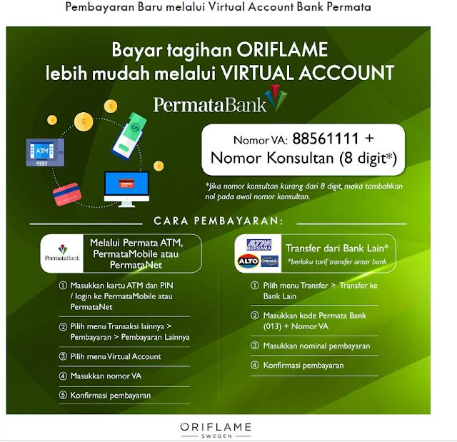 Bayar Tagihan Oriflame melalui Virtual Account