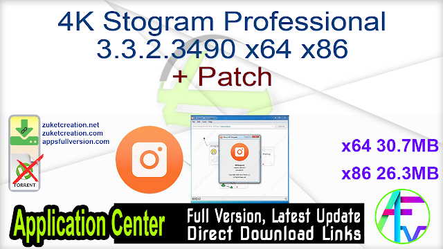 4K Stogram Professional 3.3.2.3490 x64 x86 + Patch
