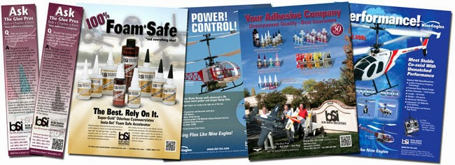 Magazine Ads - Print Ads - Hobby Glue - Graphic Design - BSI Adhesives - Studio 101 West Marketing and Design