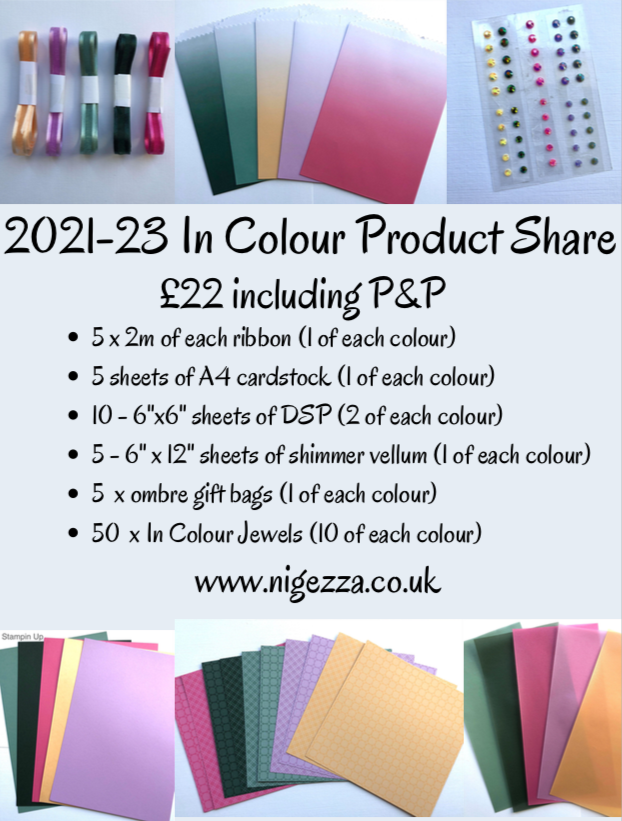 2021 - 2023 In Colour Product Share