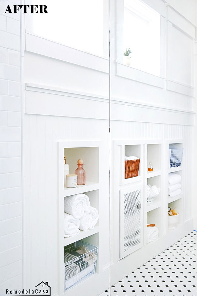 How to utilize attic space as storage in bathroom