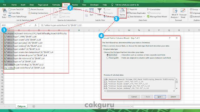 Cara mudah convert file csv menggunakan  Ms.. Excel