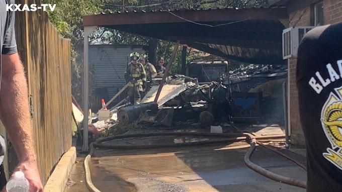Lakott területen zuhant le az amerikai haditengerészet egyik gépe Dallasban - Videó