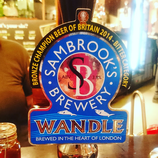 London Craft Beer Review: Wandle from Sam Brooks Brewery real ale pump clip