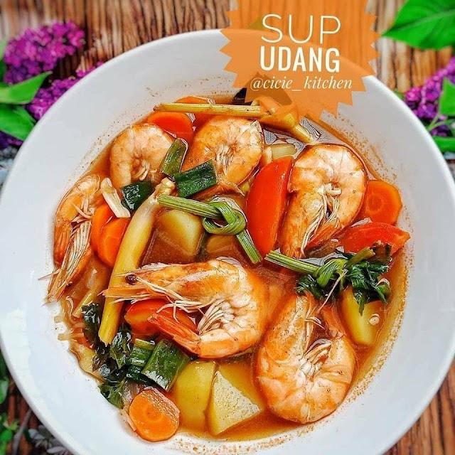 Sup Udang - Resep Olahan Udang