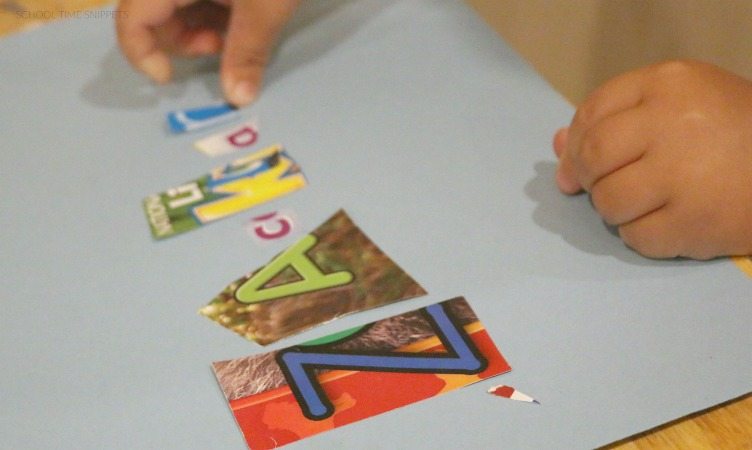 preschool name recognition craft