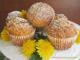 muffinki z mniszkiem lekarskim