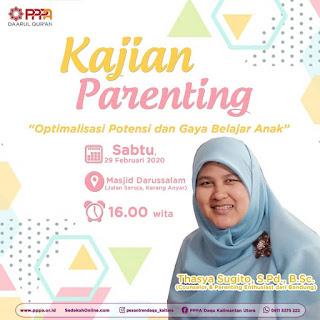 Hadirilah Kajian Parenting Bersama Thasya Sugito di Masjid Darussalam Karang Anyar Tarakan 20200229 - Kajian Islam Tarakan