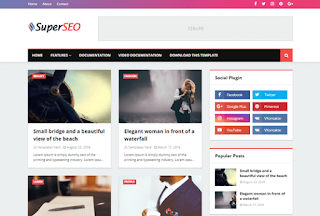Super Seo Optimized Blogger Template 2020