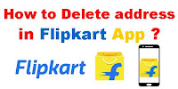 How to Delete Address in Flipkart app?