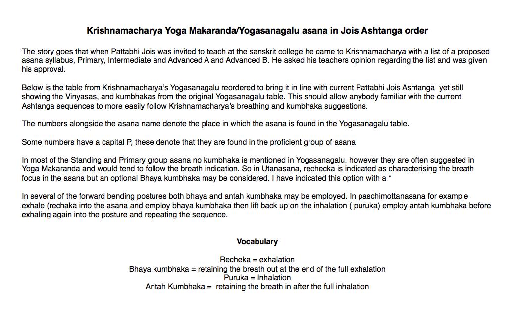 Ashtanga Vinyasa Krama Yoga   at home : Exploring Kumbhaka