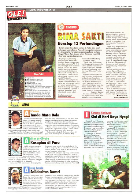 LIGA INDONESIA PROFIL BINTANG BIMA SAKTI