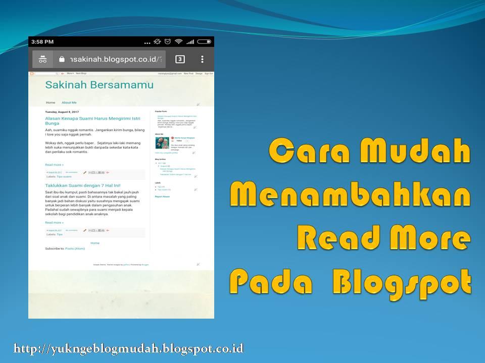 cara mudah menambahkan read more pada blogspot