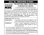 General Manager (Law and Recovery) at National Small Industries Corporation Limited (NSIC), New Delhi - last date 17 June 2019