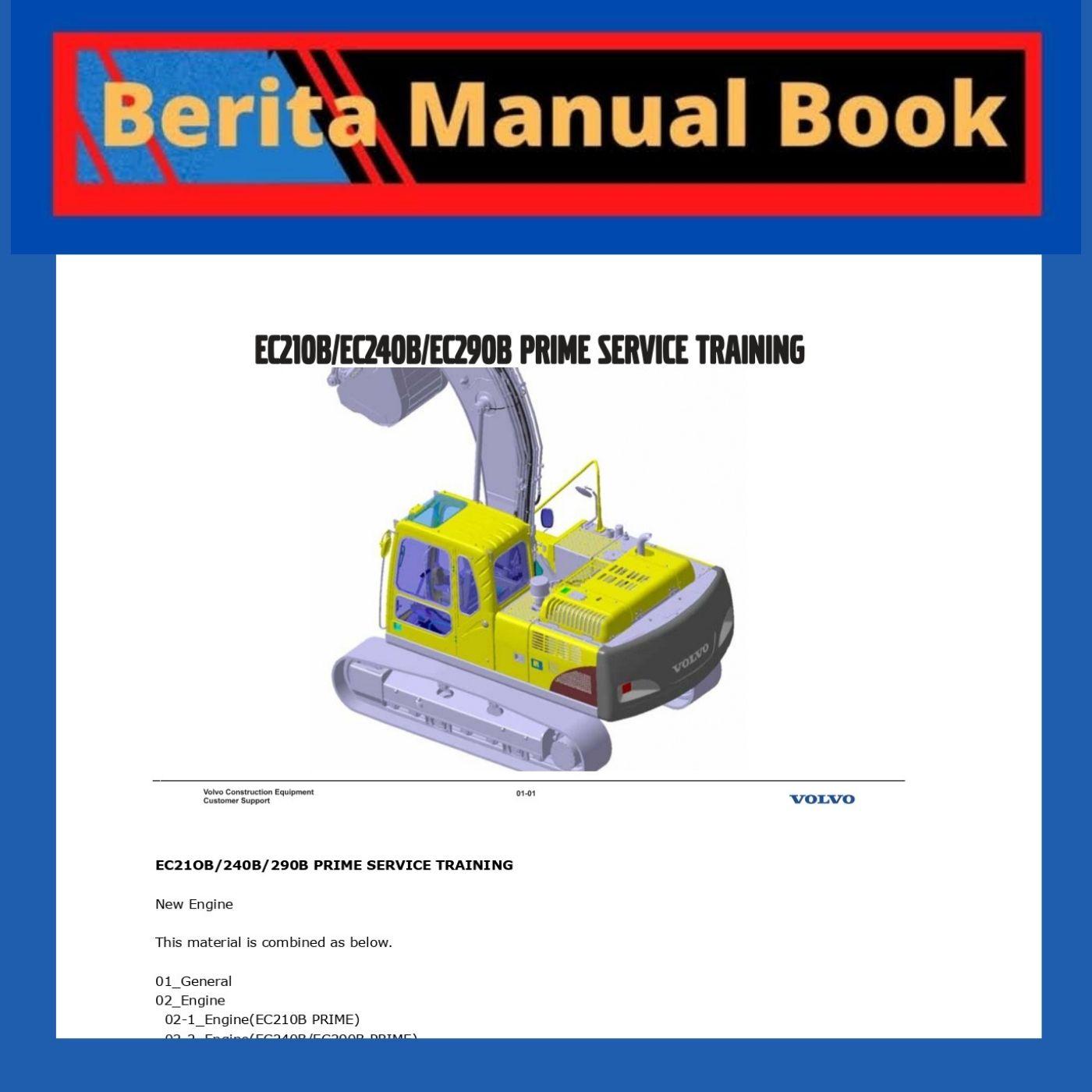 EC21OB/240B/290B PRIME SERVICE TRAINING