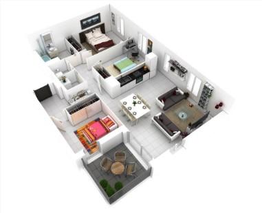 Denah Rumah Minimalis 3 Kamar Ukuran 5x12 Terbaru 2020 Materi Teknik Sipil Insinyur Go Blog