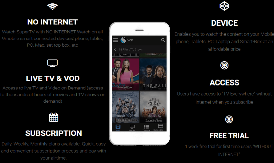 How To Watch 9mobile SuperTV On Your Mobile Phone And PC Without Mb