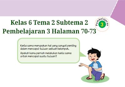Kunci Jawaban Buku Tematik Tema 2 Kelas 6 Halaman 70, 71 ...