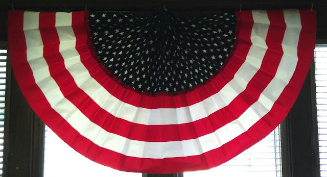 Traditional Fourth of July bunting