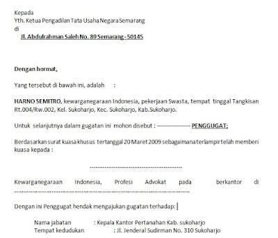 Contoh Surat Gugatan Tanah Ke Pengadilandocx Size 25 Kb Contoh