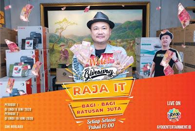 Raja IT Bagi-bagi Ratusan Juta  Rupiah di Giveaway Ayoo Entertainment ini berlangsung sebulan penuh