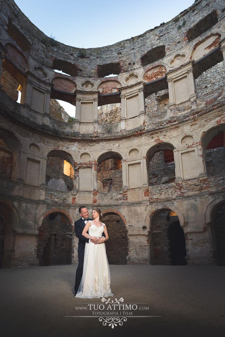 Zamek Krzyżtopór. Fotografia ślubna. Fotograf na ślub.