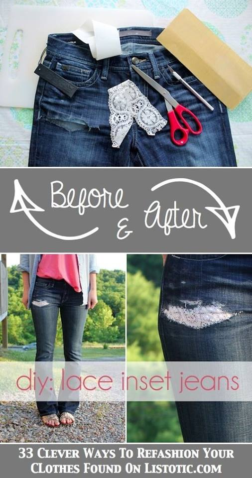Cara Kreatif Jahit Seluar Jeans Koyak