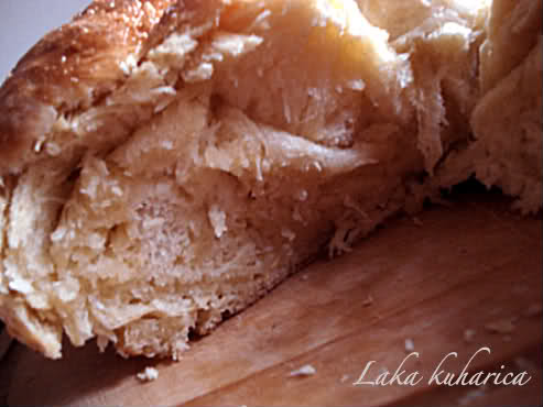 Fluffy dough snail by Laka kuharica: buttery, light,homemade snail is made with simple ingredients.